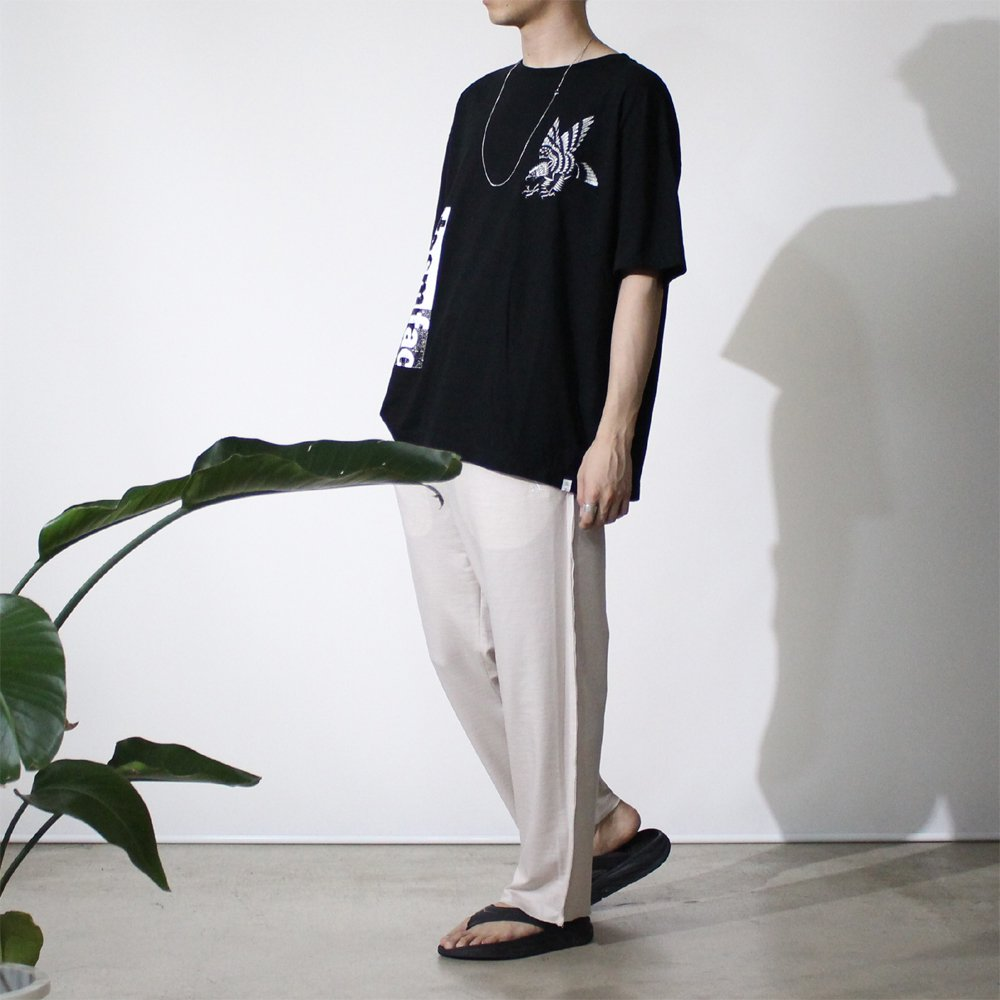 LINEN EASY TROUSERS 02 #IVORY