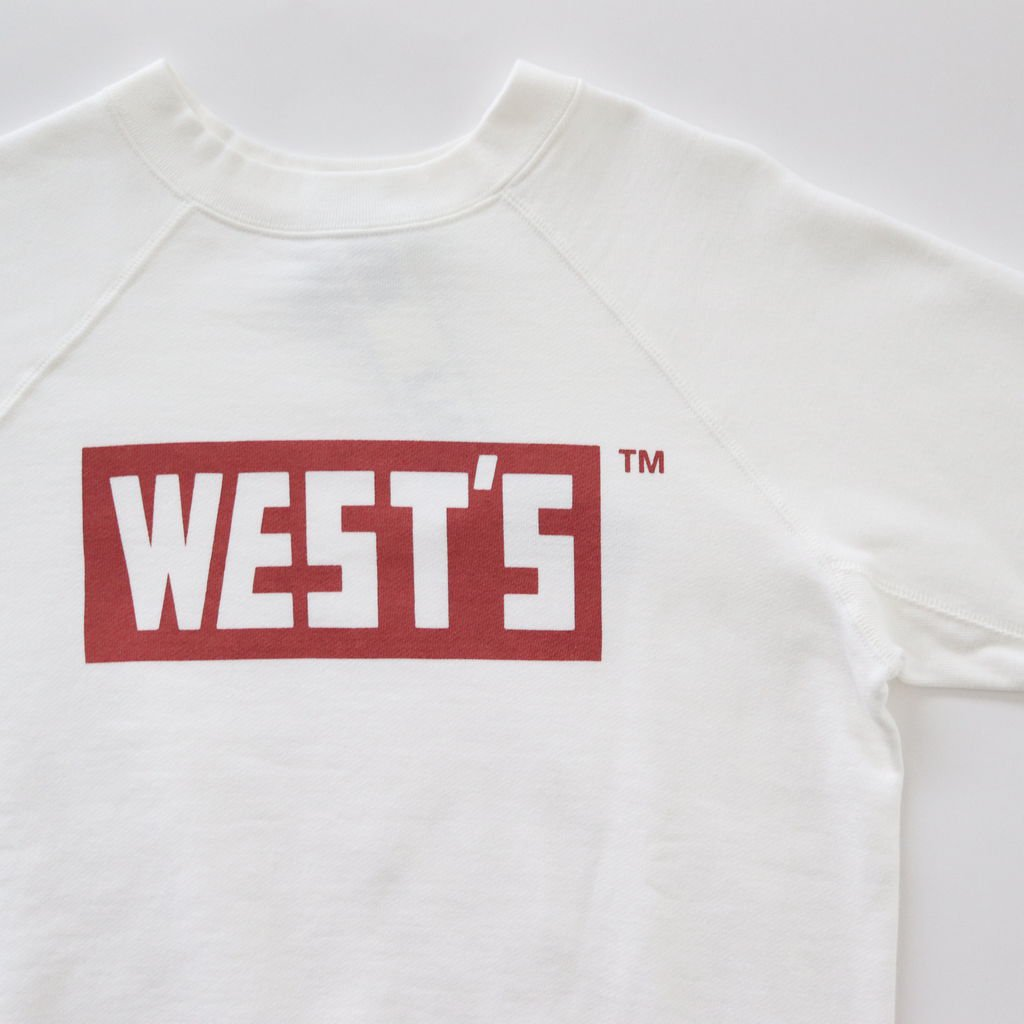 WEST'S CREW SWEAT #WHT/RED [18AWCS01-A]