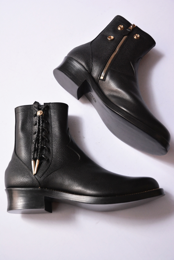 foot the coacher-SIDE LACE BOOTS