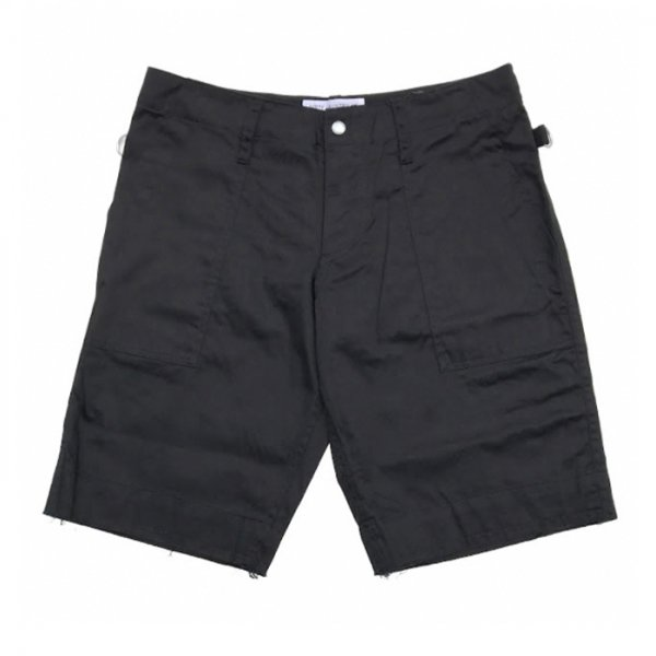 PEEL&LIFT-satin army shorts-Black