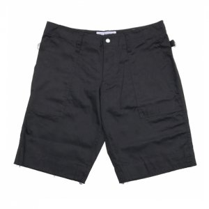 <img class='new_mark_img1' src='//img.shop-pro.jp/img/new/icons8.gif' style='border:none;display:inline;margin:0px;padding:0px;width:auto;' />PEEL&LIFT-satin army shorts-Black