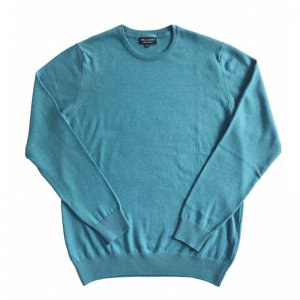 ユニセックス/ Paul James Knitwear / CREW NECK 100% COTTON JUMPER (Aqua)