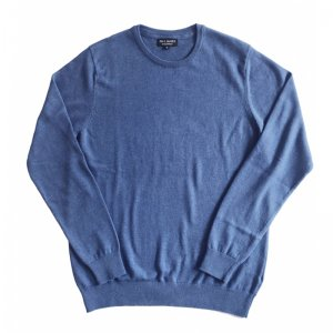 ユニセックス/ Paul James Knitwear / CREW NECK 100% COTTON JUMPER (Moroccan Blue)