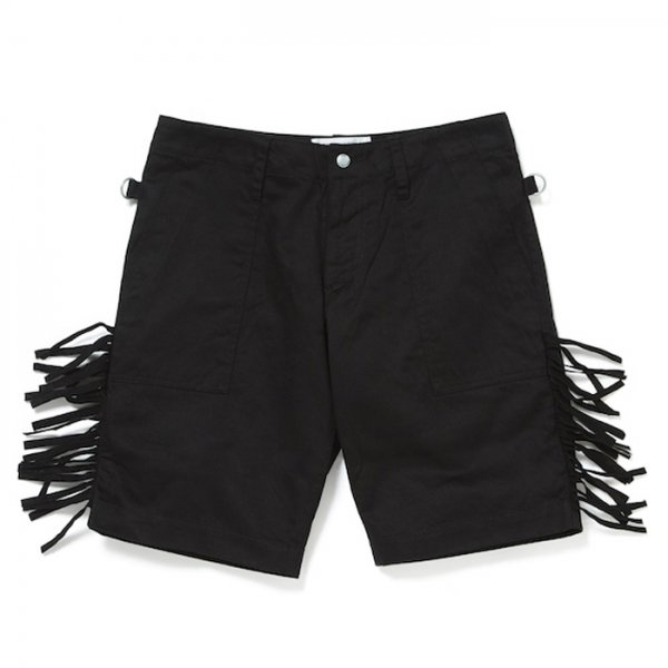 PEEL&LIFT-fringe army shorts(black×black)