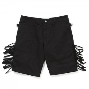 <img class='new_mark_img1' src='//img.shop-pro.jp/img/new/icons8.gif' style='border:none;display:inline;margin:0px;padding:0px;width:auto;' />PEEL&LIFT-fringe army shorts(black×black)