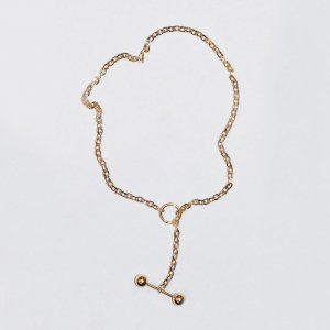 Saskia Diez Barbelle Choker (Long / Gold)