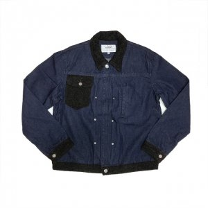 <img class='new_mark_img1' src='//img.shop-pro.jp/img/new/icons8.gif' style='border:none;display:inline;margin:0px;padding:0px;width:auto;' />PEEL&LIFT-TWEED COLLAR JEAN JACKET