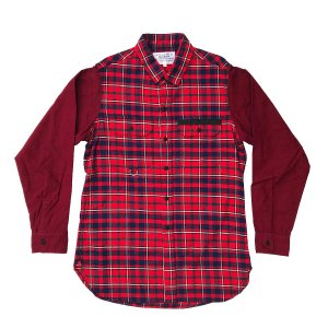PEEL&LIFT-TARTAN FLANNEL WORK SHIRT-RED