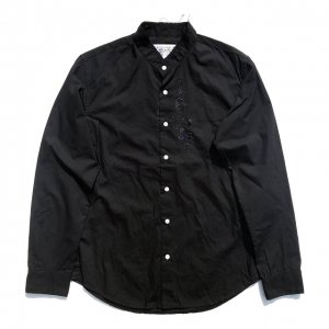 PEEL&LIFT-cutoff collar shirt-black