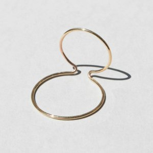 (Limited Item)Saskia Diez ROSE GOLD WIRE EARCUFF NO.2