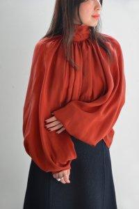 Annik(アニック) / Bouffant sleeve shirts Cupro(Cupro Teracotta)