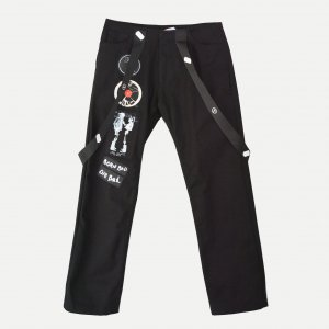 AKA SIX / fragment design - EMBLEM BLACK PANTS