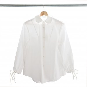 SHUSHU/TONG - Peter Pan Collar Shirts(White)