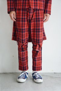 PEEL&LIFT-BONDAGE TROUSERS MODERN  WITH KILT(RED)