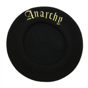 <img class='new_mark_img1' src='//img.shop-pro.jp/img/new/icons8.gif' style='border:none;display:inline;margin:0px;padding:0px;width:auto;' />ANARCHY BERET (BLACK) / made in France