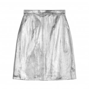 Alexa Chung / レザースカート /SILVER LEATHER SKIRT
