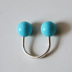 Saskia Diez / SLING RING(Reconstructed Turquoise / BLUE)