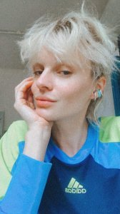Saskia Diez / BOLD EARCUFF SMIPRECIOUS(AGATE STONE BLUE)