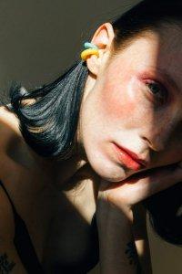 Saskia Diez / BOLD EARCUFF SMIPRECIOUS(AGATE STONE YELLOW)