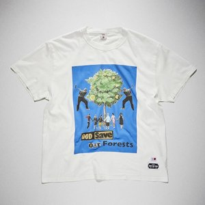 KIDILL x EDWIN-GOD SAVE OUR FOREST PRINT TSHIRTS (WHITE)