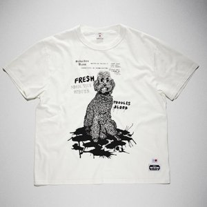 <img class='new_mark_img1' src='https://img.shop-pro.jp/img/new/icons8.gif' style='border:none;display:inline;margin:0px;padding:0px;width:auto;' />KIDILL x EDWIN-POODLE PRINT TSHIRTS (WHITE)