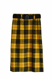 TEDDY / Belted I-LINE Skirt by Lochcarron Tartan