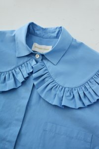 SHUSHU/TONG - Round Collar shirt(Blue)