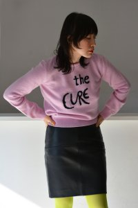 HADES / Official Collaboration Jumper with The Cure(Pink×Black)