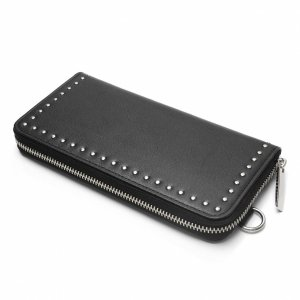 <img class='new_mark_img1' src='https://img.shop-pro.jp/img/new/icons8.gif' style='border:none;display:inline;margin:0px;padding:0px;width:auto;' />Patrick Stephen / Leather long wallet fold 'corner studs' KS ラウンドファスナーロングウォレット