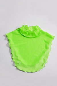 <img class='new_mark_img1' src='https://img.shop-pro.jp/img/new/icons8.gif' style='border:none;display:inline;margin:0px;padding:0px;width:auto;' />TEDDY TULLE DETATCHABLE COLLAR(Apple Green / 蛍光グリーン)付け襟