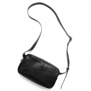 <img class='new_mark_img1' src='https://img.shop-pro.jp/img/new/icons8.gif' style='border:none;display:inline;margin:0px;padding:0px;width:auto;' />Patrick Stephen / Leather shoulder bag 'double zip' ショルダーバッグ