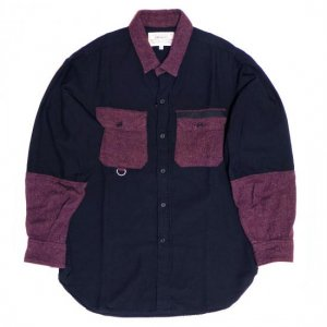 <img class='new_mark_img1' src='https://img.shop-pro.jp/img/new/icons41.gif' style='border:none;display:inline;margin:0px;padding:0px;width:auto;' />PEEL&LIFT-satin army shirt-black/bordeaux