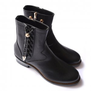<img class='new_mark_img1' src='http://evergrey.shop-pro.jp/img/new/icons8.gif' style='border:none;display:inline;margin:0px;padding:0px;width:auto;' />foot the coacher-SIDE LACE BOOTS