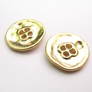 16KGP 真鍮 Natural Button 20mm