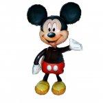 ミッキーマウスエアーウォーカー(W76cm×H137cm:口閉じ自動弁)ヘリウム封入発送