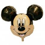 ミッキーマウス(W69cm×H53cm:自動弁、リボン2m付き)ヘリウム封入発送