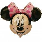 ミニーマウス(W71cm×H58cm:自動弁、リボン2m付き)ヘリウム未封入