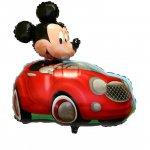 ミッキー ドライビング カー(W71�×H71�: 自動弁、リボン2m付き)ヘリウム未封入