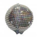ディスコボール(W38�×H38�: 自動弁、リボン2m付き)ヘリウム封入発送