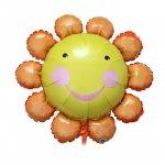 チャターボックス オレンジフラワー(W74cm×H74cm:自動弁、リボン2m付き)ヘリウム封入発送