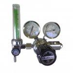 ヘリウム(He)流量計付き可変式圧力調整器(減圧器)