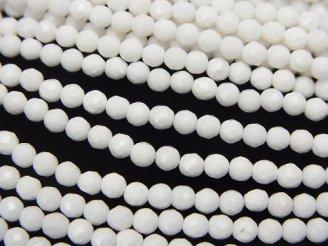 天然石卸 1連1,180円!ホワイトオニキスAAA ラウンドカット3mm 1連(約38cm)