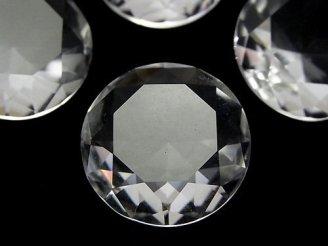 天然石卸 天然クリスタルAAA 大粒ブリリアントカット(穴なし) 25×25×10 1個1,980円!