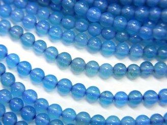 天然石卸 1連480円!ブルーアゲートAAA ラウンド3mm 1連(約38cm)
