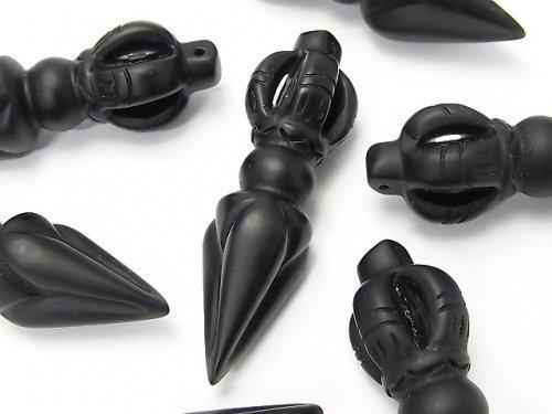 フロストブラックオブシディアンAAA ブルパ52×15×15mm 1個