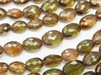 天然石卸 極上カット!宝石質アンダルサイトAAA- オーバルカット 1連(約20cm)