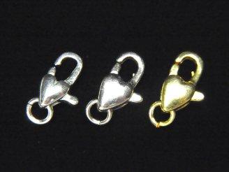 天然石卸 Silver925 カニカン(丸カン付き)12×7×4mm ハート 1個230円〜!