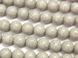 天然石卸 値下成功!◆天然記念物◆台湾産高純度北投石 ラウンド6mm 1/4連〜1連(約37cm)