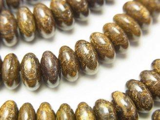 天然石卸 1連880円!ブロンザイト ロンデル(ボタン)8×8×4mm 1連(約38cm)