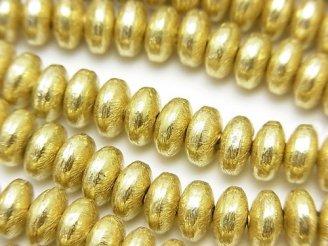 天然石卸 ブラス(真鍮) ロンデル 8×8×4 半連/1連(約18cm)